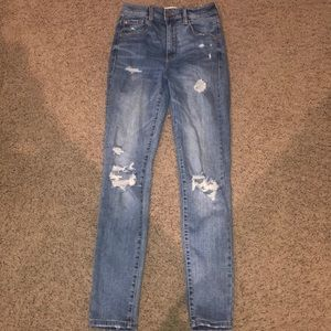 Ripped jeans garage high waisted skinny jeans